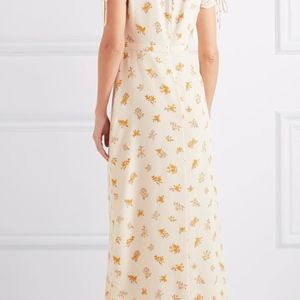 f420872cbe Madewell Dresses - Madewell wrap effect floral print silk crepe dress